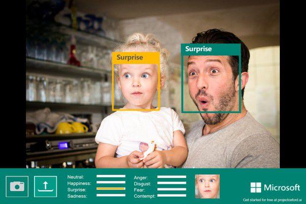 Auch Microsoft experimentiert im Project Oxford mit dem visuellen Erkennen von Emotionen.
