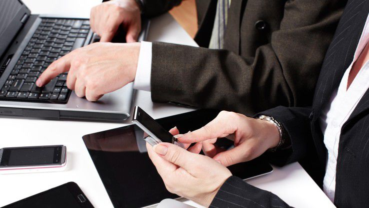Smartphone, Tablet, Laptop: Drei oder vier mobile Endgeräte sind im Berufsleben schon fast Standard.