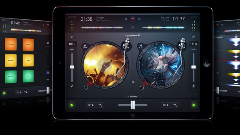 """""""Djay2"""" verwandelt das iPad in ein vollwertiges DJ-System."""