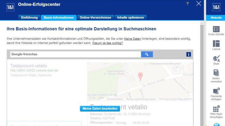 1&1 bietet auch Hilfe bei der Suchmaschinen-Optimierung, damit Ihre Website besser bei Google gefunden wird.