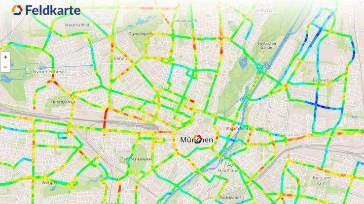 Alles im grünen Bereich? Die Strahlungskarte für den Raum München.