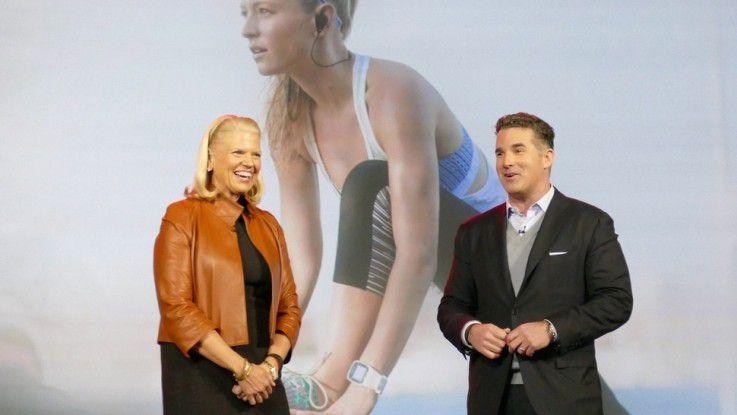 IBM-CEO Virginia Rometty mit Under-Armour-Chef Plank