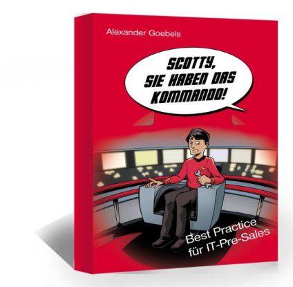"""""""Scotty, Sie haben das Kommando"""" - unter diesem Titel hat der Softwarevertriebs-Spezialist Alexander Goebels Best Practices für den IT-Pre-Sales Consultant herausgebracht. Es liefert wertvolle Tipps und Tricks für das Präsentieren von Software im B2B-Umfeld während eines Verkaufsprojekts."""