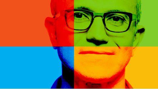 """Microsofts Strategie """"Mobile first, Cloud first"""" trägt langsam Früchte. Sinkende Gewinne nimmt CEO Satya Nadella dafür offenbar in Kauf."""