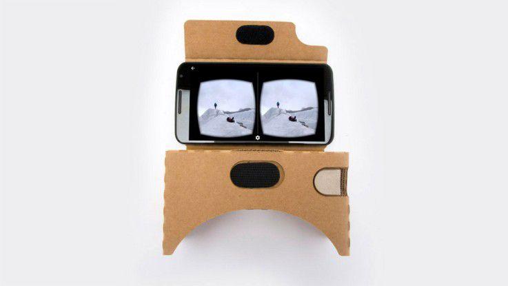 Bislang bietet Google mit Cardboard nur einen Bausatz für eine VR-Brille an.