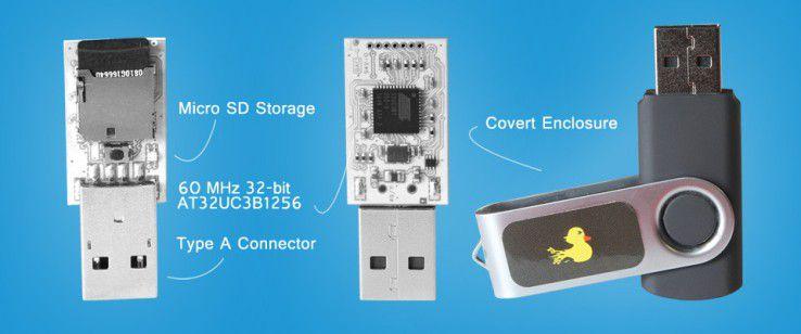 Derzeit ausverkauft: Der USB Rubber Ducky simuliert eine Tastatur.