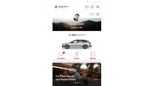 Neue digitale Services stehen bei der App von Seat und Accenture im Mittelpunkt.