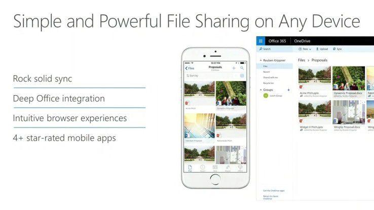 Der Sharepoint Server 2016 bildet den Dreh- und Angelpunkt zwischen OneDrive for Business und Sharepoint.