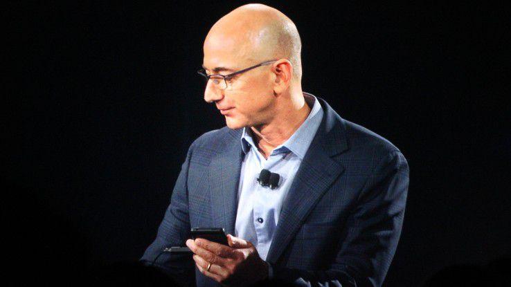 Die Anleger mögen unzufrieden sein. Doch Amazon-Chef Jeff Bezos freut sich über sprudelnde Cloud-Einnahmen. Im laufenden Geschäftsjahr soll AWS 10 Milliarden Dollar Umsatz erwirtschaften.
