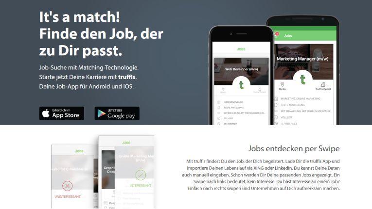 Screenshot der Website des Digital-Leader-Award-Bewerbers Truffls.