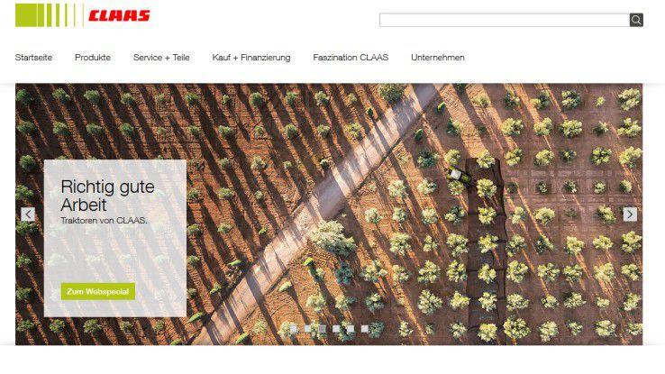Der Landmaschinenhersteller Claas ist Finalist des Digital Leader Award.