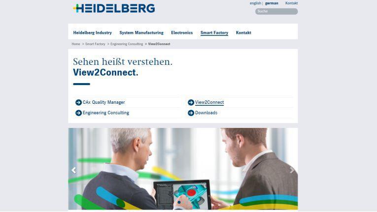 """Mit """"View2Connect""""geht die Heidelberger Druckmaschinen AG ins Rennen um den Digital Leader Award 2016 in der Kategorie Spark Collaboration."""
