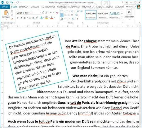 Textelemente drehen: Die umfassend formatierbaren Textfelder in Word bieten dem Anwender vielseitige Möglichkeiten bei der individuellen Gestaltung von Dokumenten.