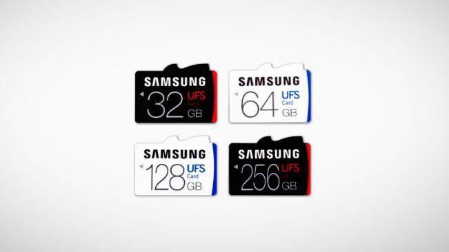 UFS-Karten haben mit 530 MB/s eine fünffach höhere Lesegeschwindigkeit als herkömmliche microSD-Karten.