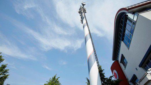Vodafone erreicht die neue Spitzengeschwindigkeit über die Bündelung von drei verschiedenen Frequenzbereichen.