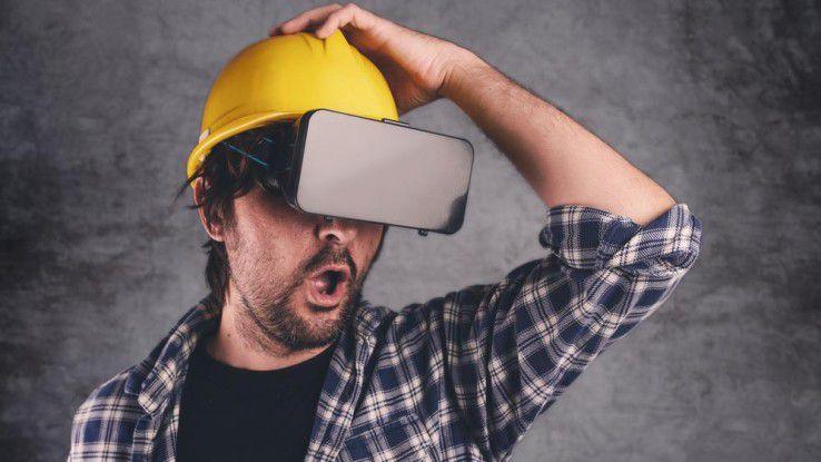 Im Zuge der Digitalisierung wurde bei vielen Unternehmen das Interesse an AR und Wearables geweckt. Dabei kommt es häufig - wie beim Fotografen dieses Bildes - zu Missverständnissen.