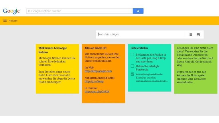 Google Notizen (Keep)