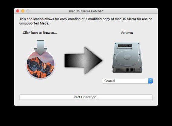 Das Tool erstellt aus dem Sierra-Installer ein Boot-Medium.