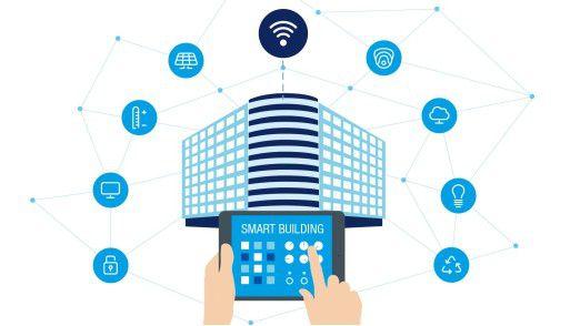 Im Smart Building können über ein Dashboard per Internet des Lichts alle Parameter kontrolliert und gesteuert werden.