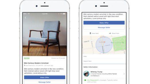 So sieht Facebooks neuer Marktplatz für Kleinanzeigen aus.