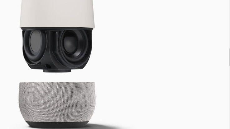 Konkurrenz für Amazons Echo: Mit Home bringt Google ebenfalls einen Lautsprecher der aufs Wort gehorcht.