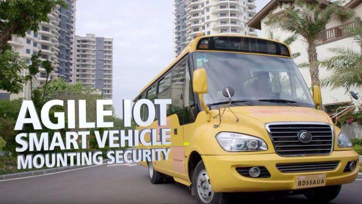Im Smart School Bus sollen die Kinder künftig sicher zur Schule kommen.
