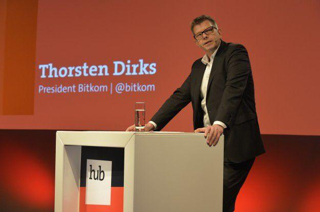 Digitalisierung ist eine Chance. Bitkom-Präsident Thorsten Dirks (links) machte aber Nachholbedarf vor allem im Mittelstand aus.