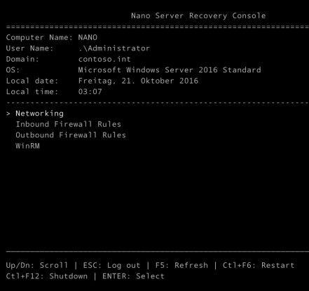 Nano-Server verbrauchen weniger Ressourcen und sind sicherer als Core-Server oder Server mit grafischer Benutzeroberfläche.