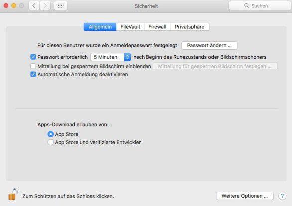 macOS Sierra lässt externe Software nicht so einfach zu