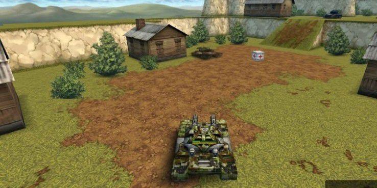 Tanki Online: Im Feuergefecht mit einem gegnerischen Panzer.