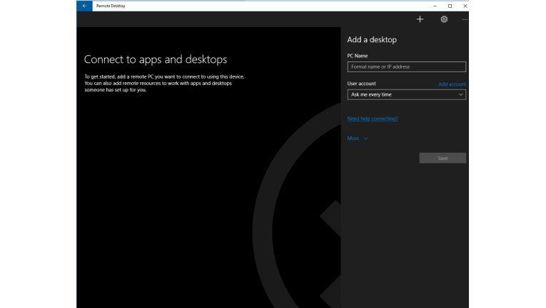 Microsoft bietet eine kostenlose App für den Remotezugriff per RDP.