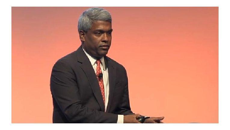 """""""Niemand in der Public Cloud bietet Vergleichbares"""", warb Thomas Kurian, Chef von Oracles Produktentwicklung, auf der CloudWorld in New York."""
