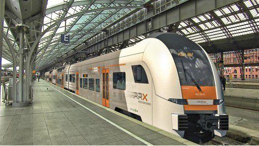 Beim Rhein-Ruhr-Express (RRX) sollen durch Digitalisierung von Betrieb und Produktion 15 Prozent der Kosten gespart werden.