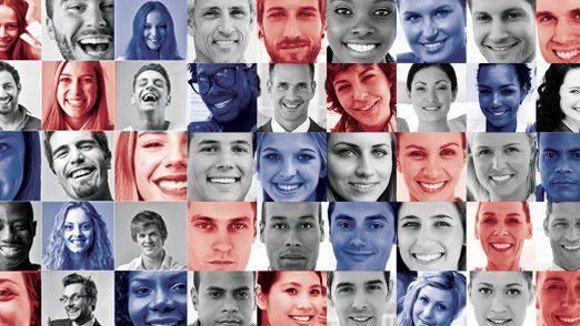Computer können lernen, menschliche Gesichter zu unterscheiden. Facebook nutzt das für die automatische Gesichtserkennung.