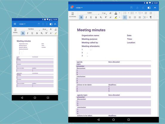 Von Microsoft deklassiert: Die Textverarbeitung in OfficeSuite von MobiSystems