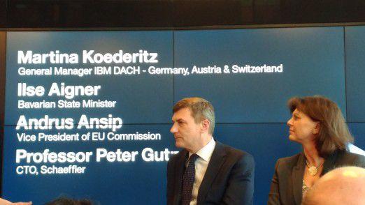EU-Vize-Präsident Andrus Ansip mahnte anlässlich der Eröffnung des Watson IoT Center den digitalen EU-Binnenmarkt an.
