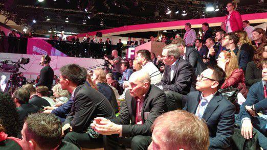 Auch in diesem Jahr war die Telekom-Pressekonferenz auf dem MWC gut besucht.