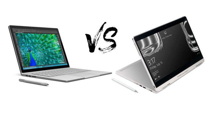 """Luxus-Laptops im Vergleich: Wir haben Surface Book und Book One zum Spec-Vergleich """"gebeten""""."""