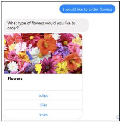 Lex Response Card im FB Messenger
