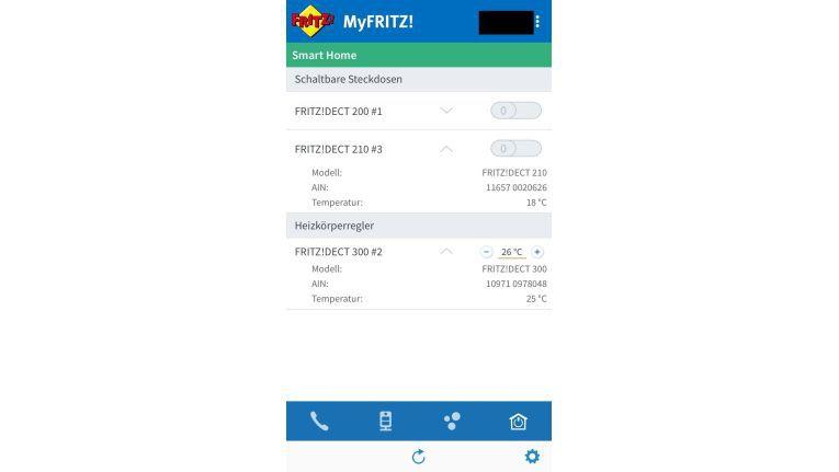 Mit der MyFritz App können Sie unter anderem Ihr Smart Home verwalten.