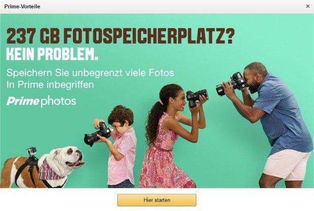Amazon bietet seinen Prime-Kunden für Fotos unbegrenzten Speicherplatz in der Cloud an; für Videos gilt dies anders als bei Google dagegen nicht.