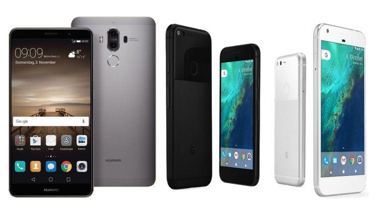 Platz 1: Google Pixel, Pixel XL, Huawei Mate 9