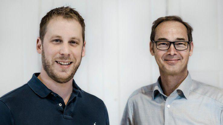 """Josef Adersberger und Bernd Schlüter (rechts) sind Geschäftsführer der QAware: """"Wir geben den Spezialisten viel Raum, um das, was sie gut können, einzubringen."""""""