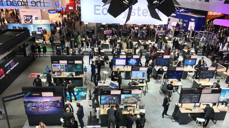 Huawei-Stand auf der Cebit: Das Thema Ökosystem spielt für Huawei eine große Rolle.