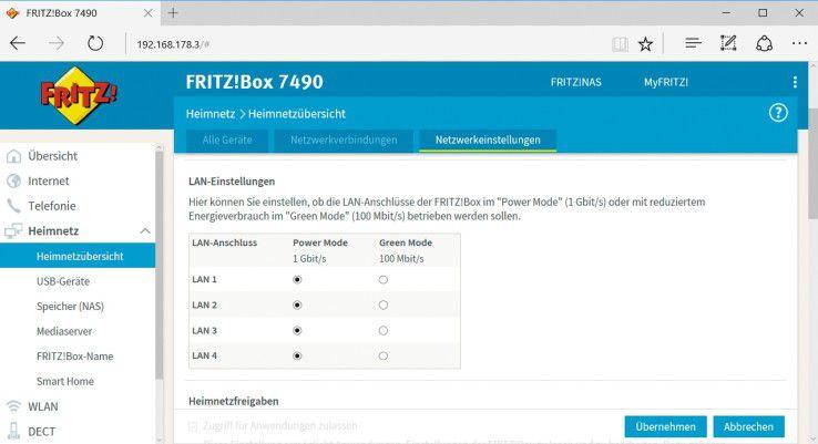 Warum sind die LAN-Verbindungen nur mit 100 Mbit/s möglich, obwohl die Fritzbox mehr kann?
