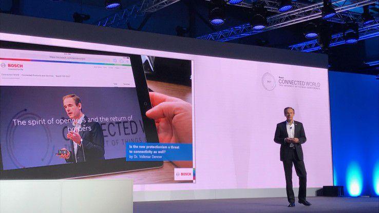 Bosch-Chef Dr. Volkmar Denner eröffnete die Bosch Connected World 2017