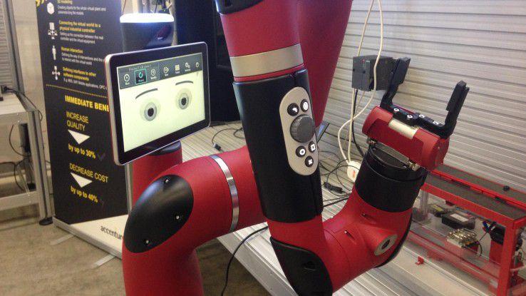 Greif-Roboterm mit Emotionen im IIoT-Lab.
