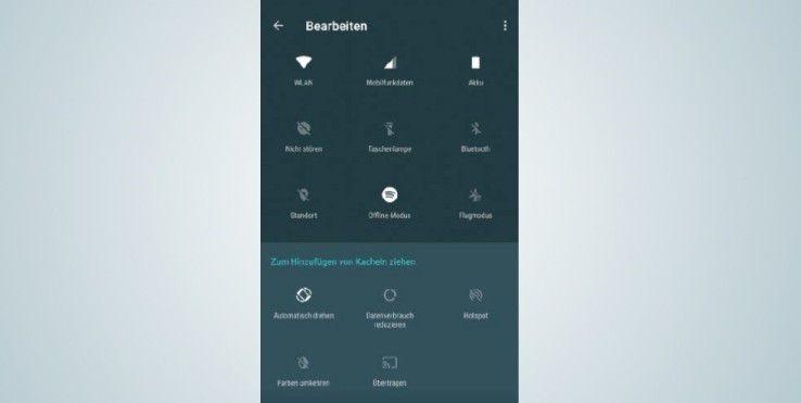 Android 7 erlaubt Ihnen die Gestaltung des Schnellstartmenüs nach Ihren eigenen Vorstellungen.