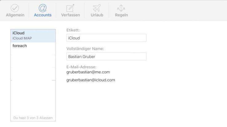 Über die Weboberfläche von iCloud können Sie bis zu drei E-Mail-Aliase erstellen. Diese können Sie anschließend für Online-Shops und andere Seiten verwenden, um nicht Ihre primäre iCloud-Adresse zu verraten.