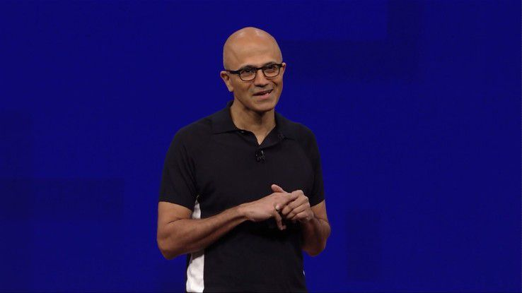 Der Microsoft CEO Satya Nadella eröffnete in Seattle die Microsoft Build 2017.